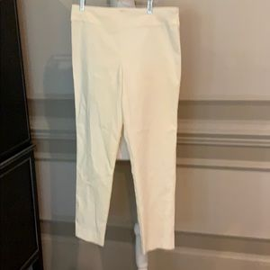 Krazy Larry  Ivory pull on Ankle Pant